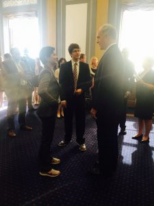 SAPAC members speak with Senator Robert Casey Jr at the 2nd Annual Youth Advocacy and Leadership Program, Summer 2016