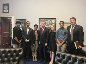 Above: the SAPAC team takes a picture following their productive meeting with Rep. Adam Schiff (center) inside his office in Rayburn House Office Building on Thursday, July 13th.