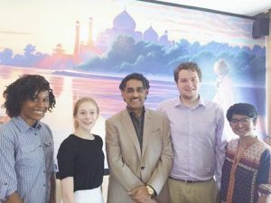 From Left to Right: Intern Simone Williams, Intern Ella Bjurman, President Maqbool Halepota, Intern Dustin Ruhe, Executive Director Fati Gul